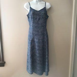 Old Navy blue stripe rayon dress. Size medium